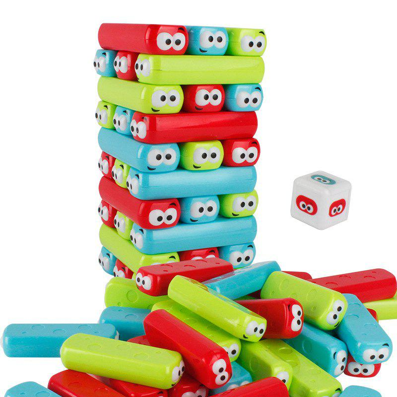 New Big Head Plastic Stack Music Tabletop Game Toy