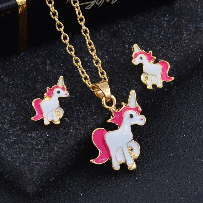 Online Fashion Oil  Creative Cartoon Horse Nail Necklace