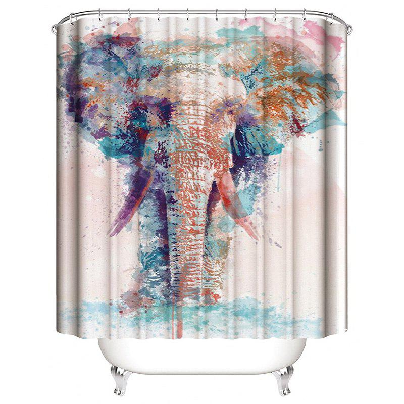 Best Landscape Digital Printing Elephant Waterproof Anti Mildew Shower Curtain