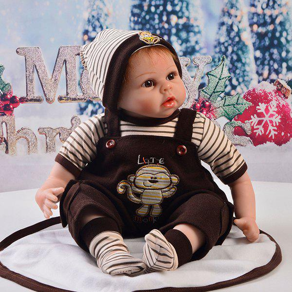 Fashion 22 - 23 Inch Simulation Baby Rebirth Doll Strap Shorts Suit