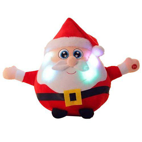 Shine Singing Music Santa Claus Doll Плюшевые игрушки Elk Figurine Christmas Event Gift Красный Дед Мороз