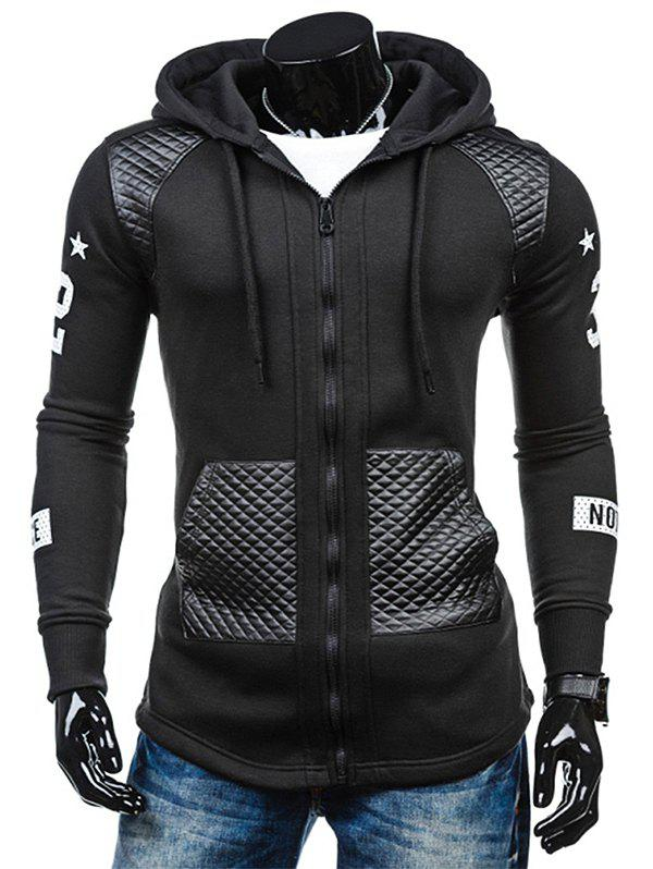 Best Men's Hoodie Fashion Hooded Casual Splicing Ribbon