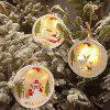 Christmas Decoration Wooden Bell Ornaments -