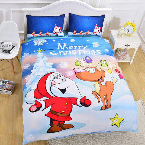 Christmas Series Quilt Home Textile Kit Bedding Three-piece Pattern Couple Kit