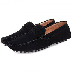 0086 Men's Peas Shoes Large Size One Pedal Driving -