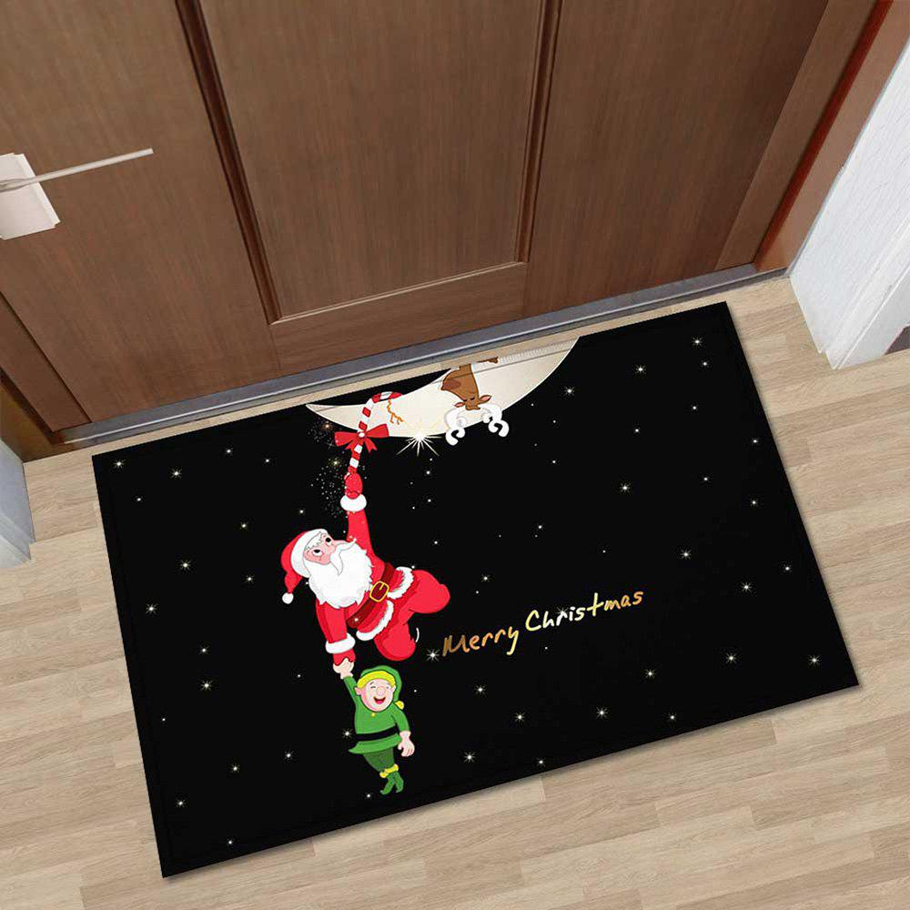Chic 40x60cm Christmas Kitchen Bathroom Mat Personality Entry Pad Absorbent Non-slip