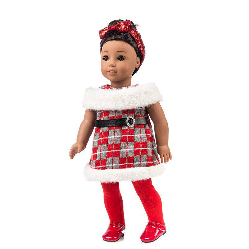 Cheap 18-inch American Girl Simulation Rebirth Doll Skirt Christmas Clothes