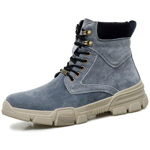 Men Lace-up High-top Boots Comfortable Warm Wearable