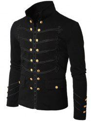 Men Stylish Solid Button Cardigan Jacket -
