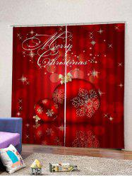 Christmas Balls Pattern 2 Panels Window Curtains -