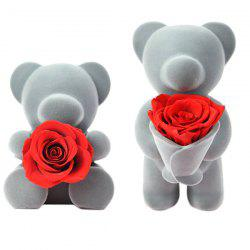 Eternal Life Rose Flower Sweetheart Bear Teaching Christmas Gifts -