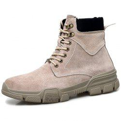 Men Lace-up High-top Boots Comfortable Warm Wearable -