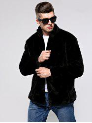 Men Leisure Coat Comfortable Warm Stand Collar -