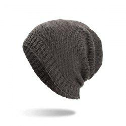 Casual Warm Skully Hat Beanie Thick Caps -