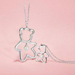 Xiaomi Youpin LUCKYME Cute Bear 925 Silver Inlaid Pearl Jewelry -