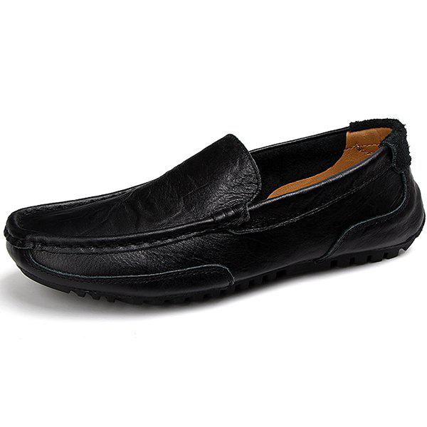 Sale 2028 Men's Explosions Large Size Peas Shoes One Foot Pedal Driving Flat Shoes