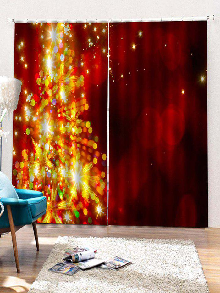Sale 2PCS Dazzling Pattern Window Curtains