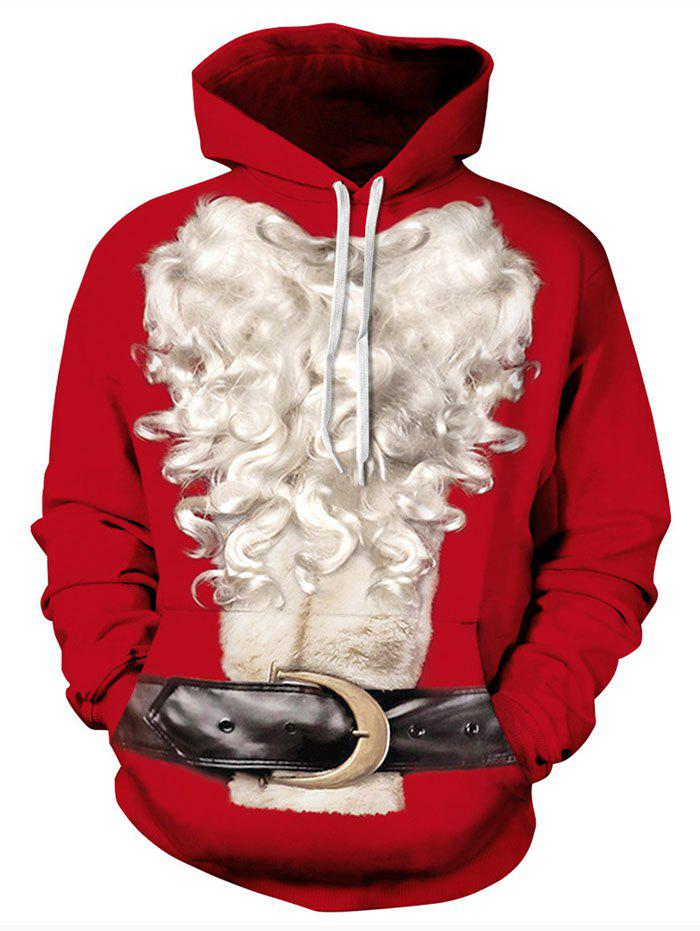 Off White Christmas Hoodie.Christmas White Beard 3d Sweater Hooded Couple Baseball Uniform Costume