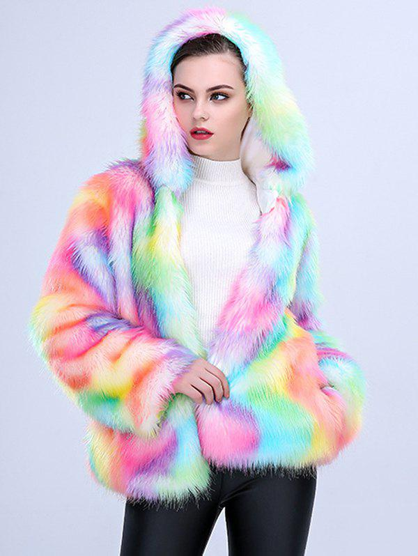Online One-piece Women Long Plush Fur Coat