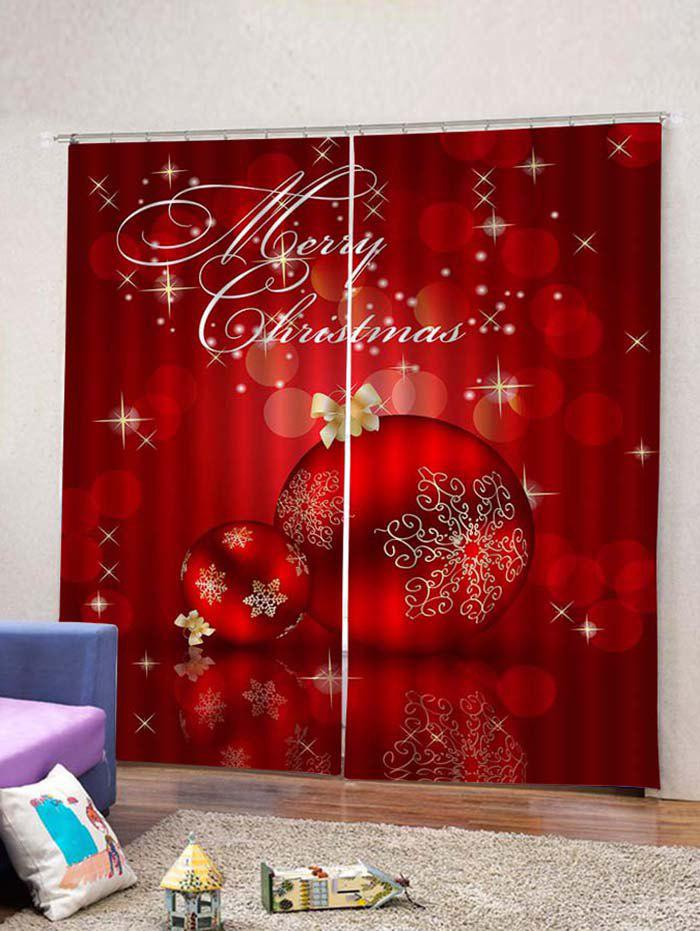 Shop Christmas Balls Pattern 2 Panels Window Curtains