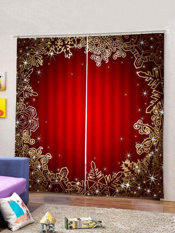 Outfit 2PCS Christmas Geometry Pattern Window Curtains
