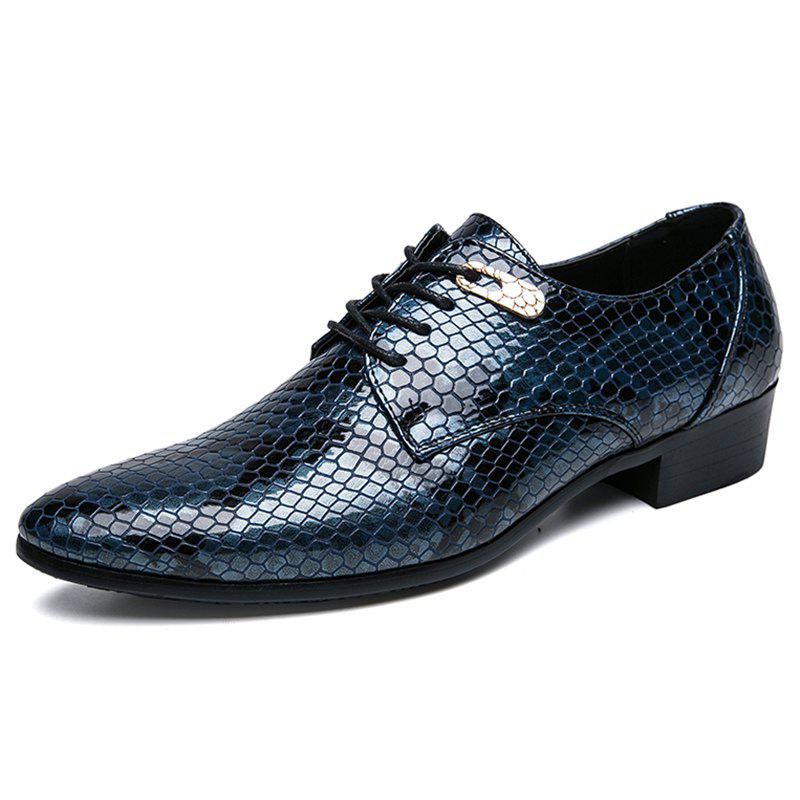 Trendy Snake Pattern Large Size Men's Shoes Leather