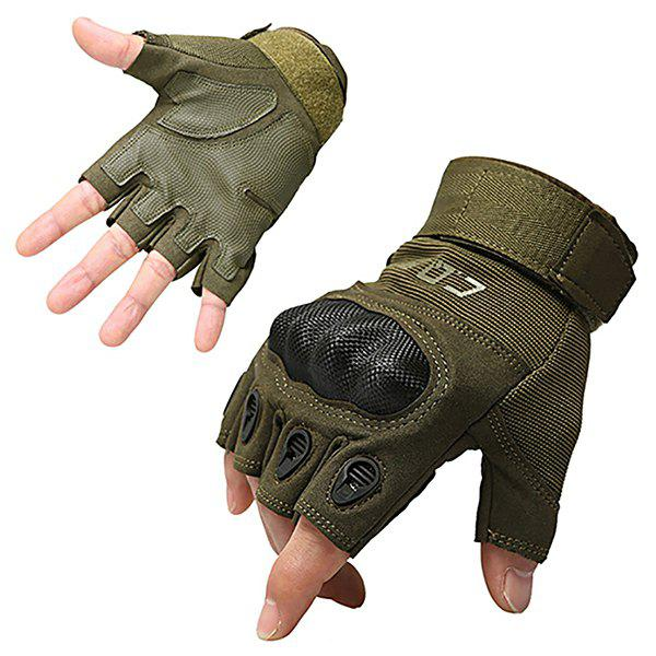 Sale Men's Outdoor Tactics and Semi-full Finger O-slip Anti-slip Glove