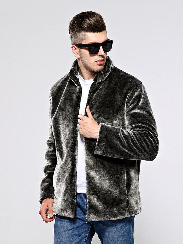 Outfit Men Leisure Coat Comfortable Warm Stand Collar
