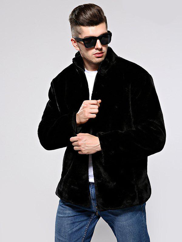 Chic Men Leisure Coat Comfortable Warm Stand Collar