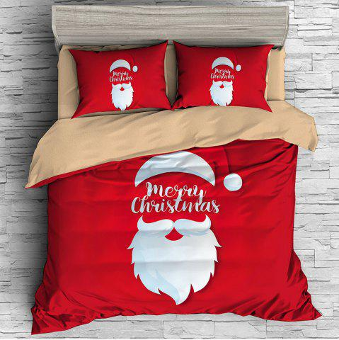 Christmas Santa Claus Style Three-piece Bedding Set