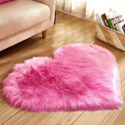 Solid Color Love Shape Wool-like Carpet Mat Mattress Blanket Sofa Cushion Mat Plush Carpet 40x50cm -