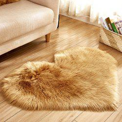 Simple Love Shape Wool-like Carpet -