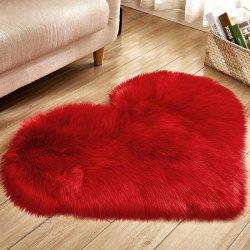 Solid Color Love Shape Wool-like Carpet Mat Mattress Blanket Sofa Cushion Mat Plush Carpet 30x40cm -