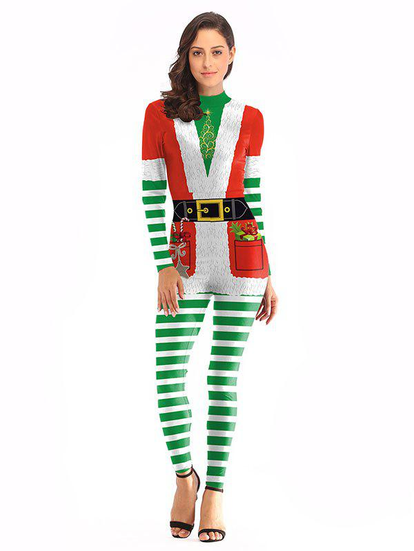 Outfits Santa Claus Performance Clothing Christmas Clothes Coveralls
