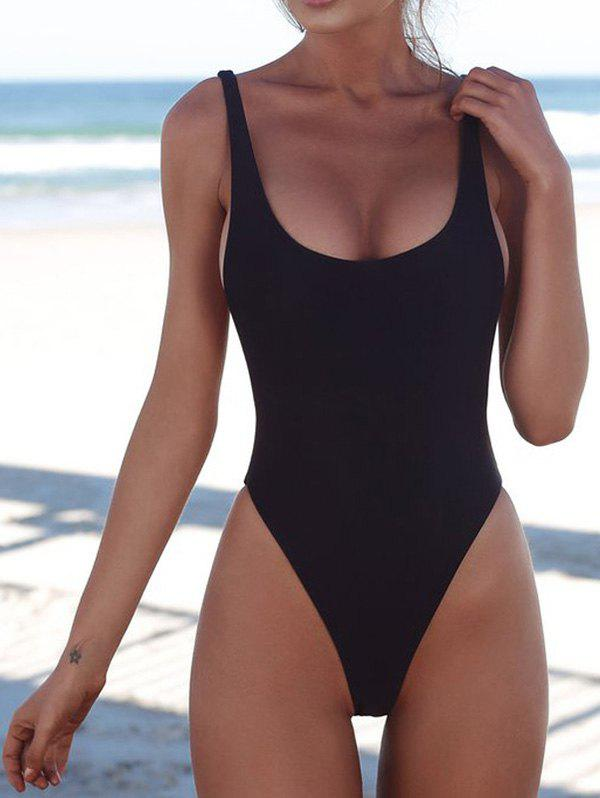 Trendy Beauty One-pieceSexy Solid Color Bikini
