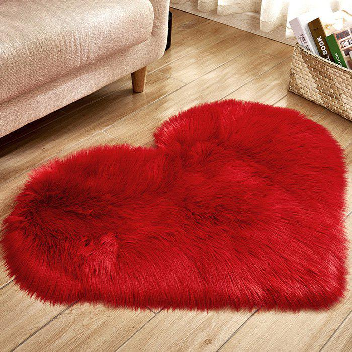 Cheap Solid Color Love Shape Wool-like Carpet Mat Mattress Blanket Sofa Cushion Mat Plush Carpet 30x40cm