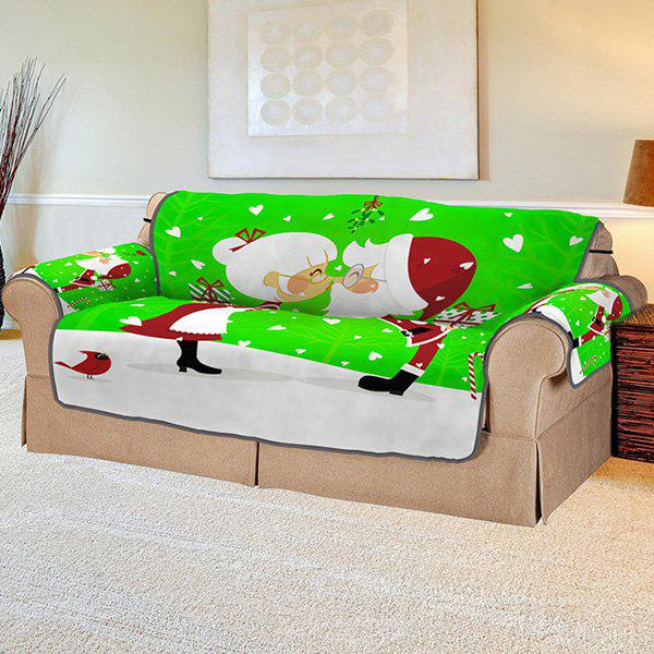 Latest 3D Digital Printed Santa Claus Couple Pattern Sofa Cover