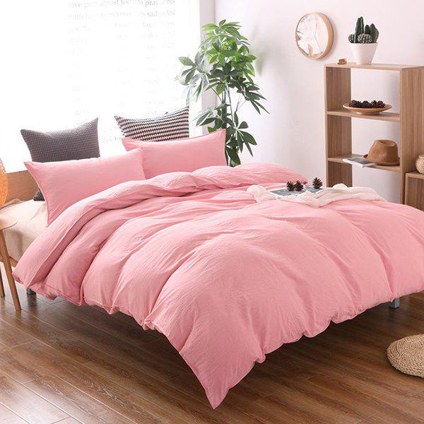 Outfits Washed Cotton Solid Color Soft Comfortable Bedding Home Textile 3pcs
