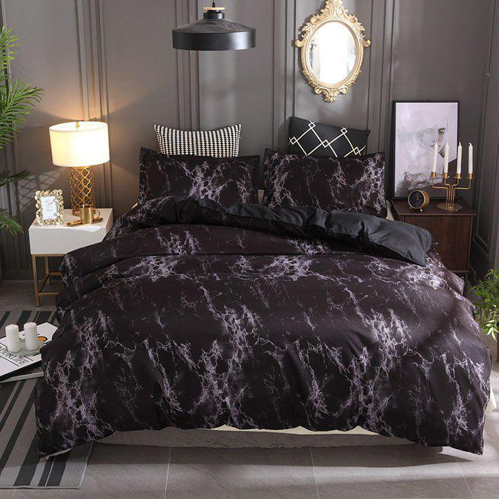 Outfits Stone Pattern Simple Plain Bedding Set