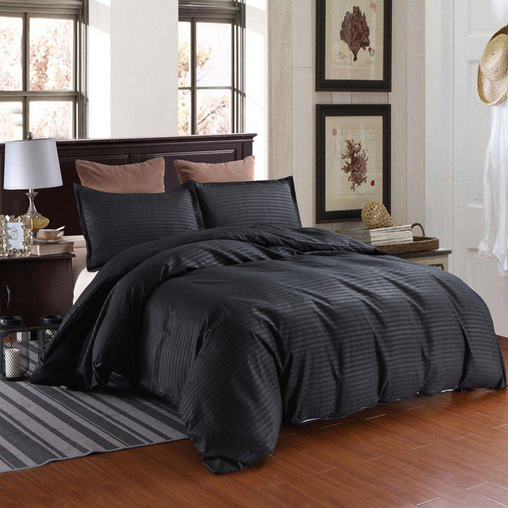 Trendy Three-piece Solid Color Bedding Set for Home Hotel
