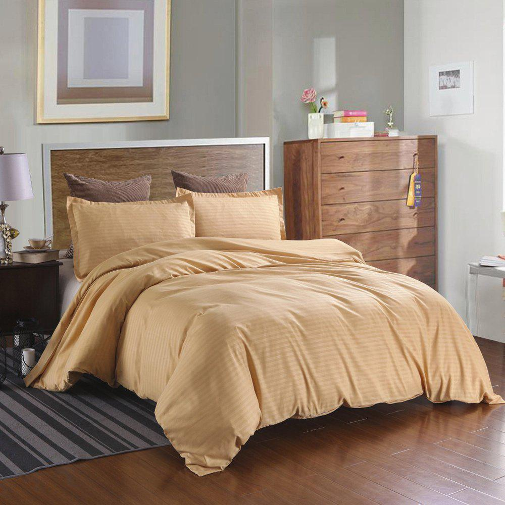 New Three-piece Solid Color Bedding Set for Home Hotel