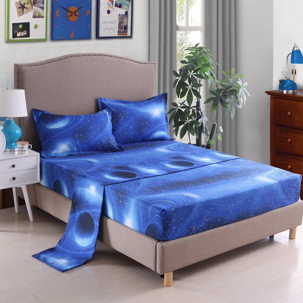 Discount Home Textile Pillowcase Quilt Bed Linen 3D Star Series Nebula Sheet 4pcs