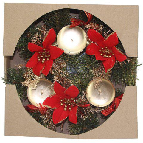 Christmas Decoration Candle Holder Wreath
