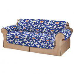 3D Digital Printed Sofa Cover Blue Pattern Cushion -