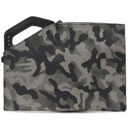Simple Trend Camouflage Clutch Bag -