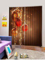 2PCS Christmas Star Ball Window Curtains -