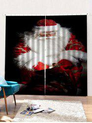 2PCS Father Christmas Window Curtains -