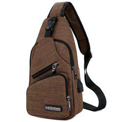 Outdoor Men USB Charging Sports Chest Bag -