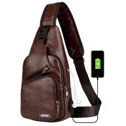 USB Charging Chest Bag Casual Fashion -