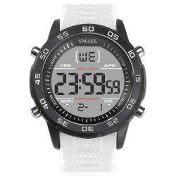 SMAEL 1067 Single Classic Fashion Men's Large Dial Silicone Belt Watch -